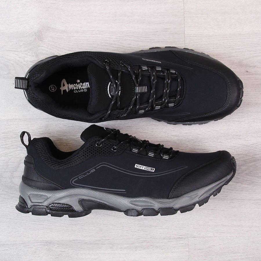 b78bf07f Buty trekkingowe męskie wodoodporne czarne American Club 23734 za ...