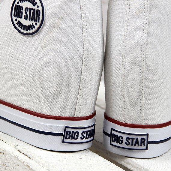 Trampki damskie na koturnie białe BIG STAR U274904
