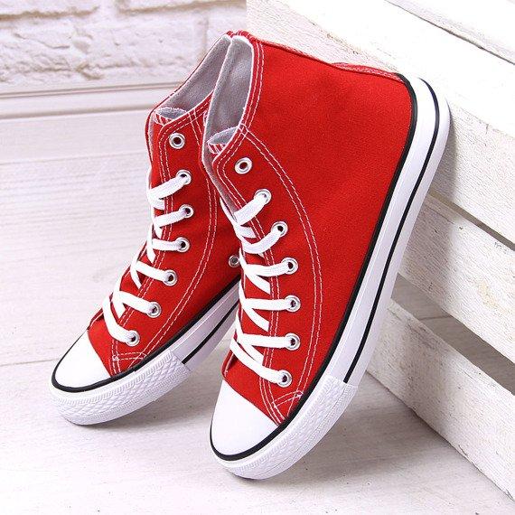 Czerwone trampki wysokie Atletico