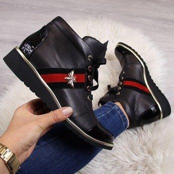a3ab30c4 Botki na koturnie damskie   tanie buty online ButyRaj.pl