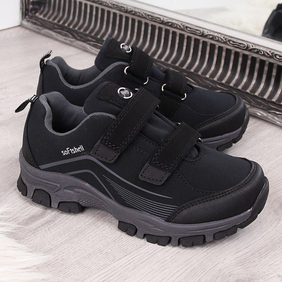 8ef6fc25 Buty trekkingowe dziecięce wodoodporne czarne American Club 23839 za ...