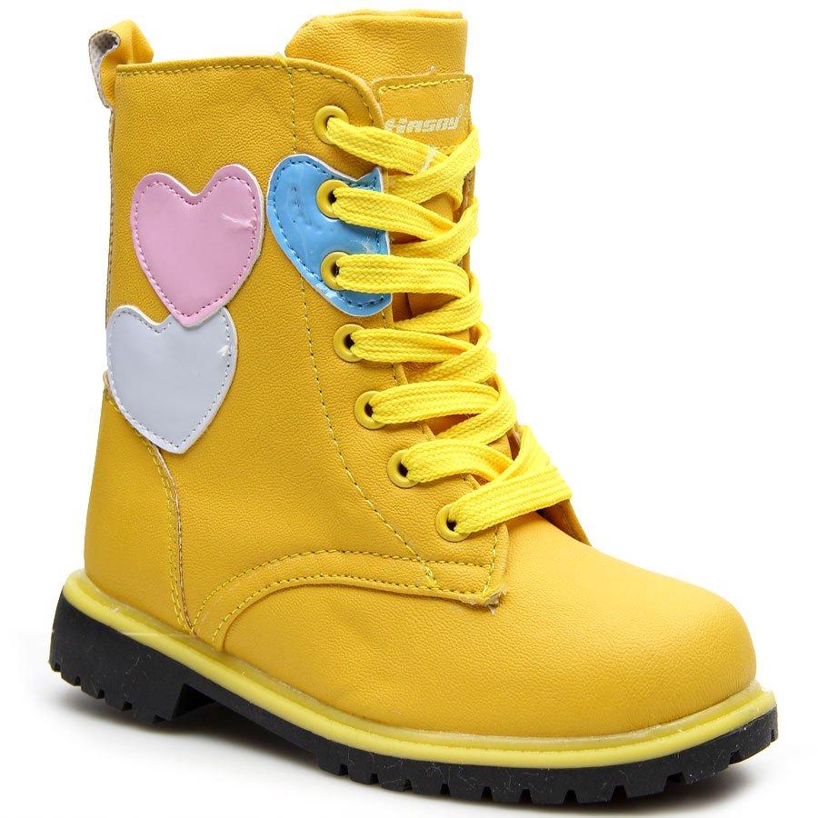 9ebb8668 Glany dziewczęce ocieplane żółte Hasby; Glany dziewczęce ocieplane żółte  Hasby ...
