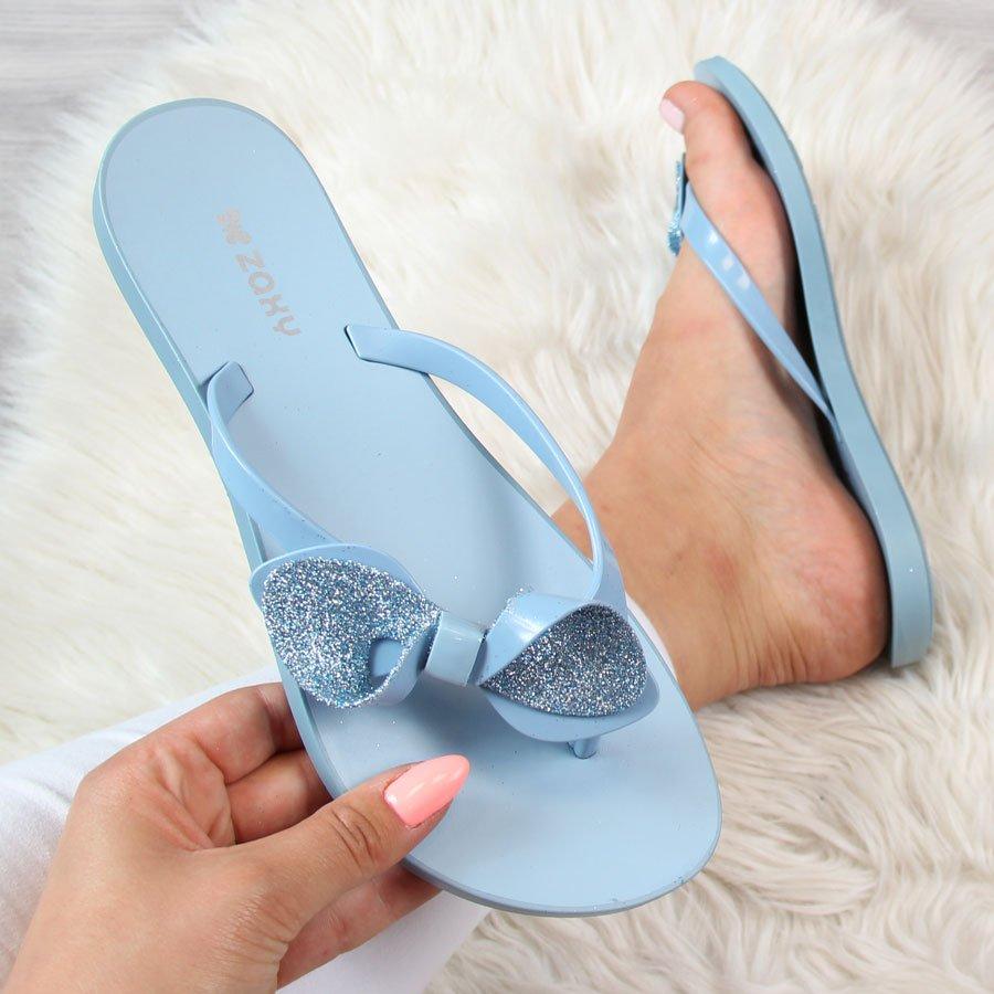 55408519e4fff Klapki damskie japonki gumowe niebieskie ZAXY Fresh Trip 22000 za ...
