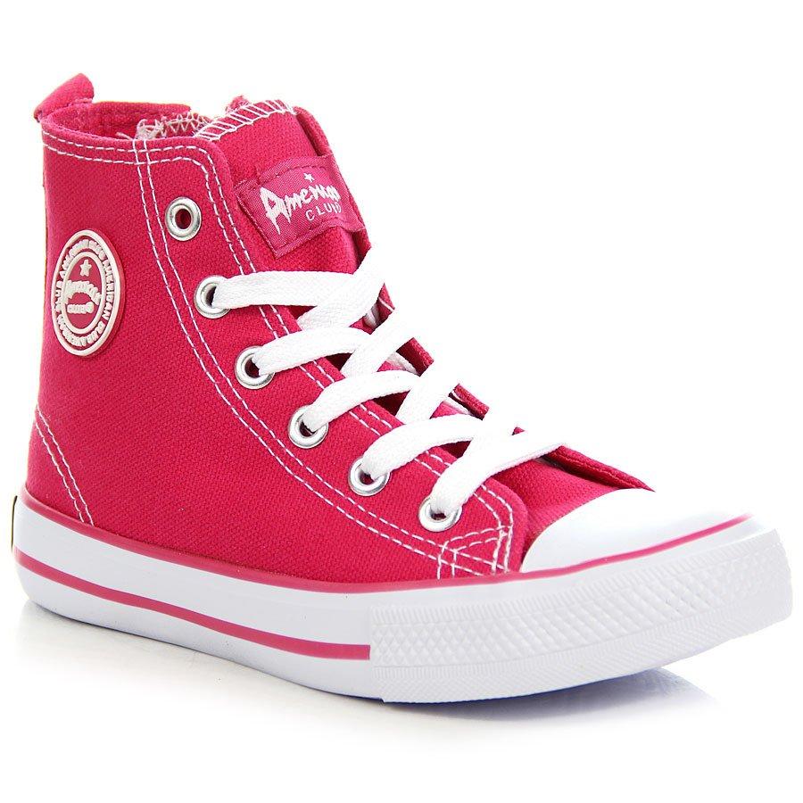 0c5b365f207e5 Różowe trampki dziewczęce American Club; Różowe trampki dziewczęce American  Club ...
