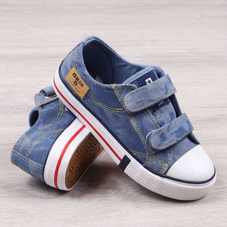 c3ab0aa4e9df8 Trampki dziecięce na rzep jeansowe Big Star 24471 za - ButyRaj.pl