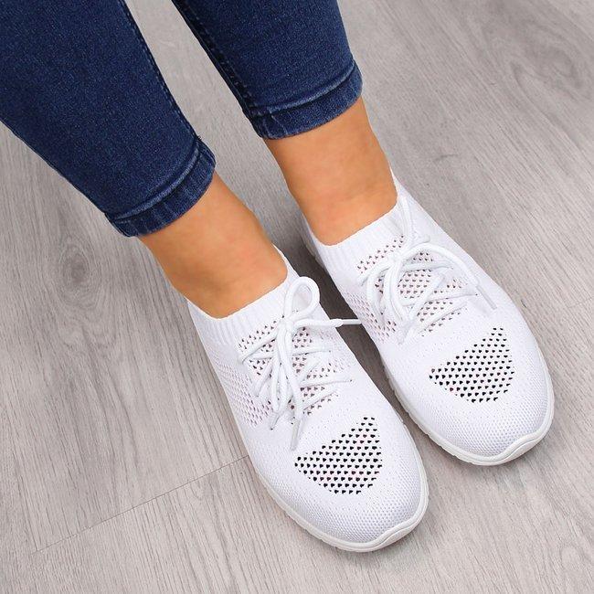 Buty sportowe damskie ażurowe białe McKeylor