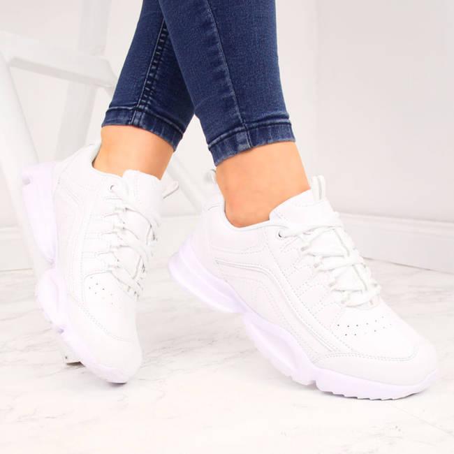 Buty sportowe damskie białe American Club