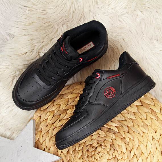 Buty sportowe damskie czarne Cross Jeans