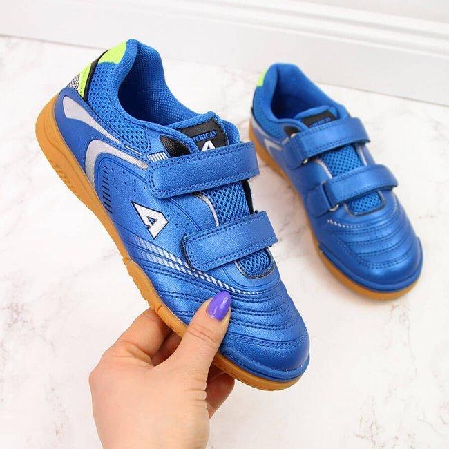 Buty sportowe dziecięce halówki na rzepy niebieskie American Club