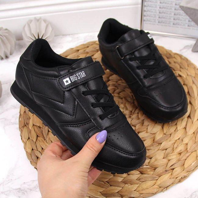 Buty sportowe dziecięce na rzep czarne Big Star GG374059