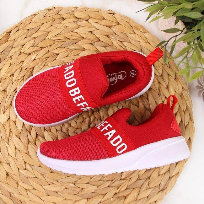 Buty sportowe dziecięce slip on Befado czerwone