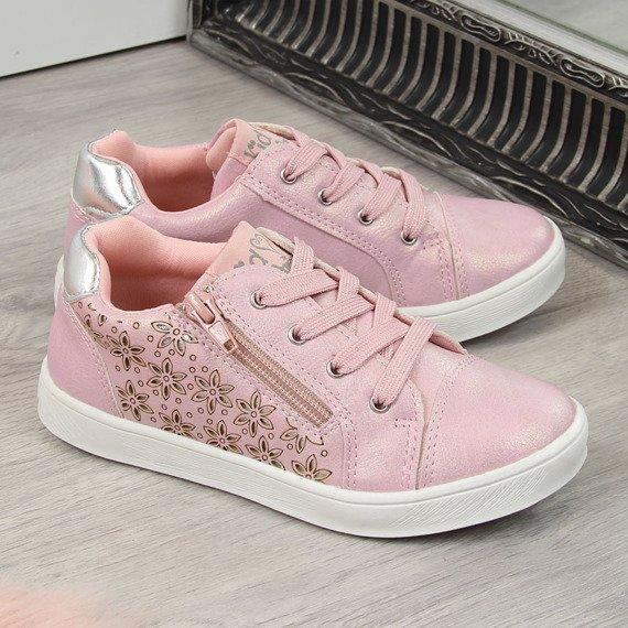 Buty sportowe dziewczęce różowe American Club