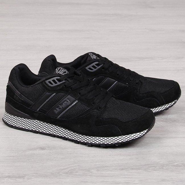 Buty sportowe męski skórzane  casual czarne McKey