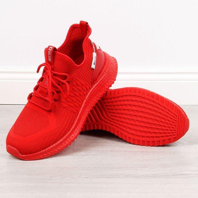 Buty sportowe męskie czerwone Big Star HH174275