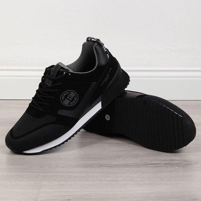 Buty sportowe męskie skórzane czarne Big Star GG174548