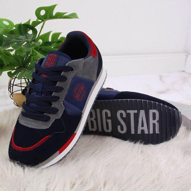 Buty sportowe skórzane granatowe Big Star GG274A055