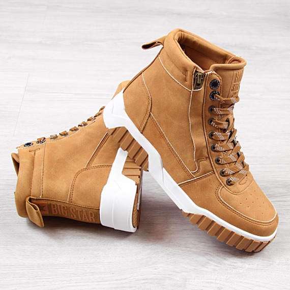Buty sportowe wysokie brązowe Big Star EE274224