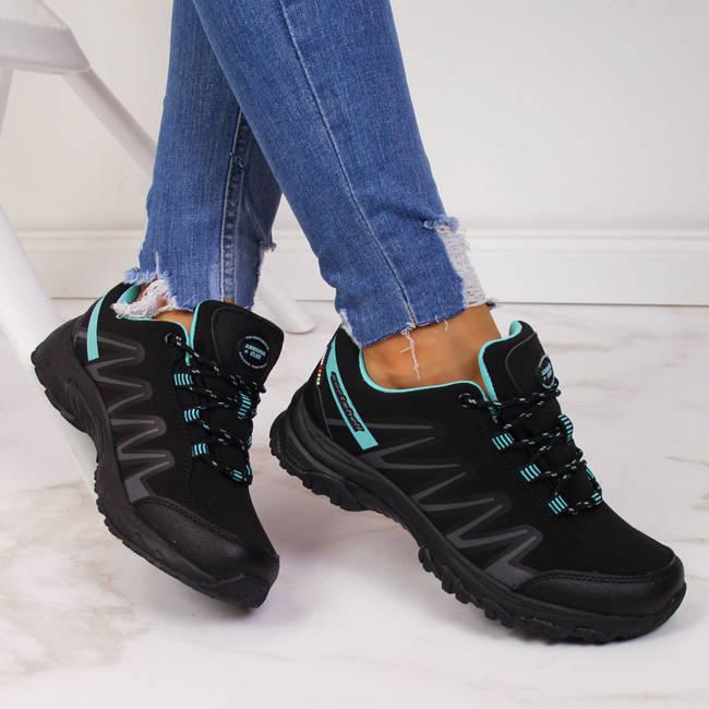 Buty trekkingowe damskie wodoodporne czarne American Club