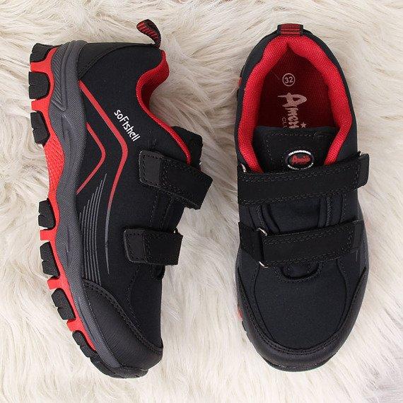 Buty trekkingowe dziecięce wodoodporne czarne American Club