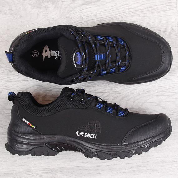 Buty trekkingowe wodoodporne czarne American Club