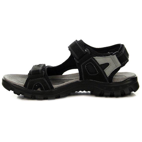 Czarne sandały męskie skórzane McKeylor