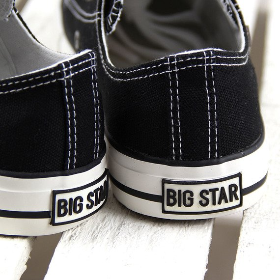 Czarne tenisówki półtrampki męskie BIG STAR T174103
