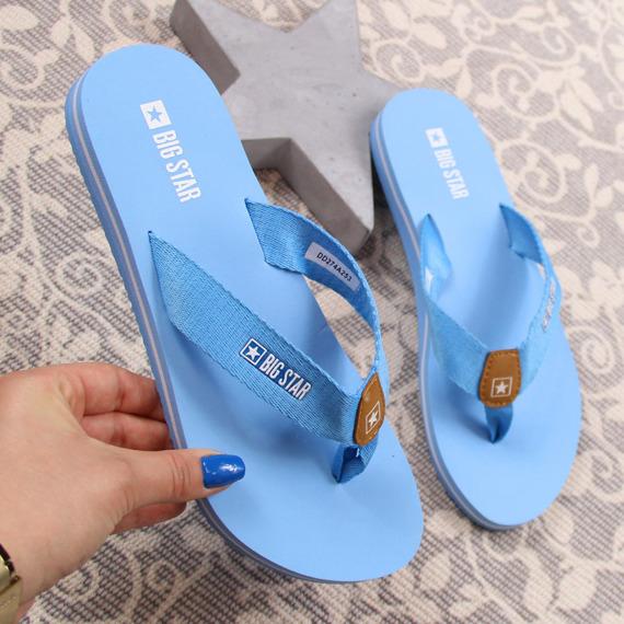Japonki damskie plażowe niebieskie Big Star DD274A253