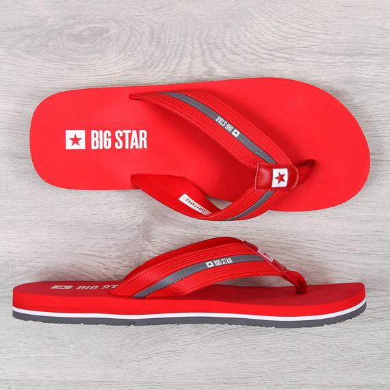 Japonki męskie plażowe czerwone Big Star