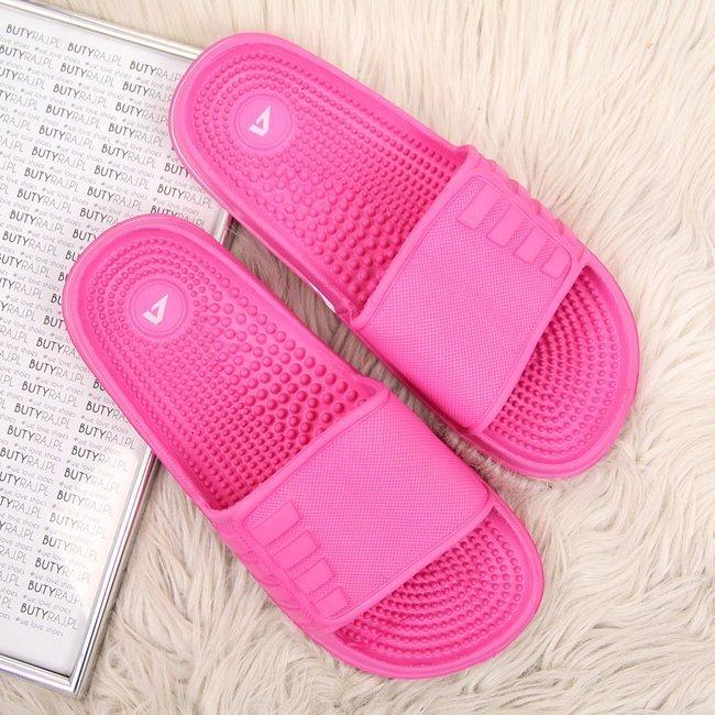 Klapki basenowe fakirki różowe American Club