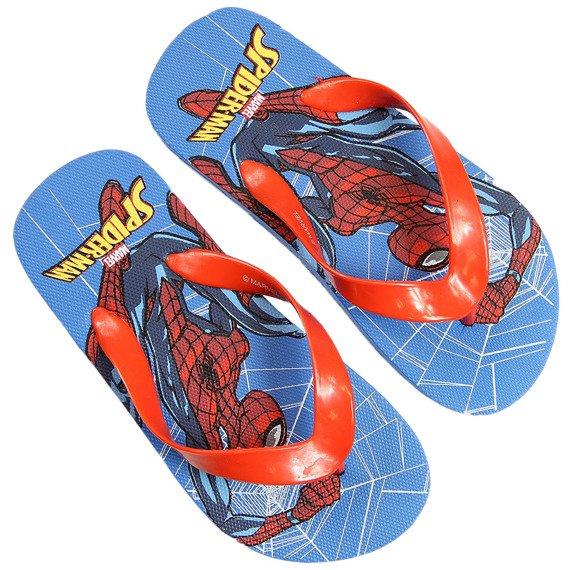 Klapki chłopięce japonki czerwone Spiderman