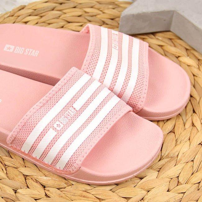 Klapki damskie basenowe różowe Big Star FF274A352