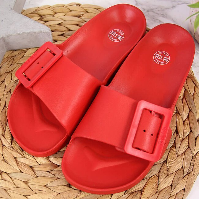Klapki damskie piankowe plażowe czerwone Big Star FF274A385