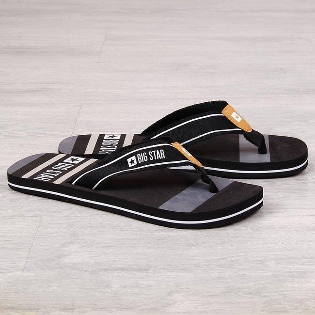 Klapki męskie japonki plażowe czarne Big Star FF174460