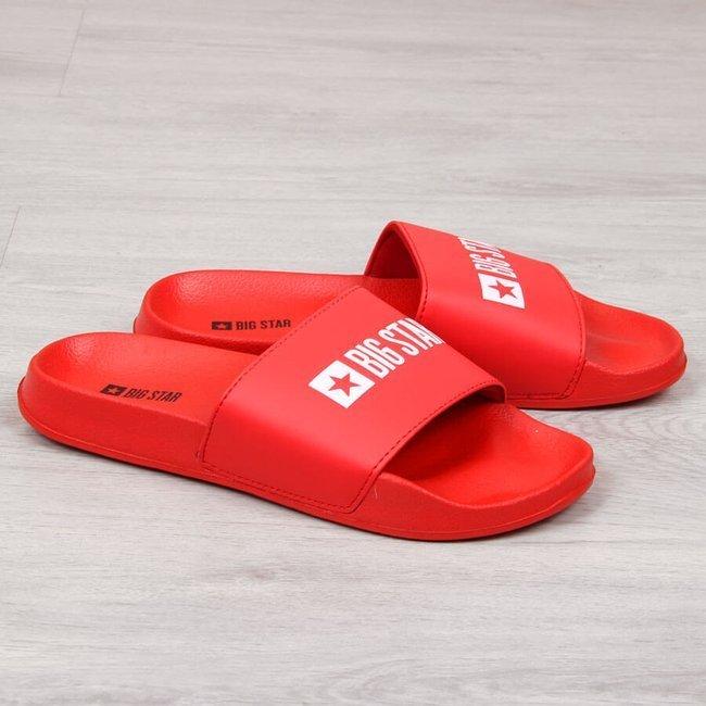 Klapki męskie plażowe czerwone Big Star GG174932