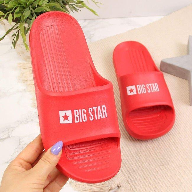 Klapki piankowe plażowe basenowe czerwone Big Star GG274A024