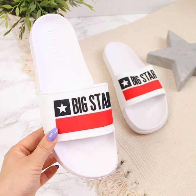 Klapki plażowe basenowe białe Big Star GG274A047