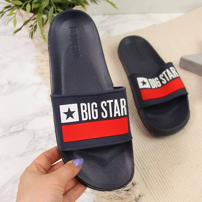 Klapki plażowe basenowe granatowe Big Star GG274A046