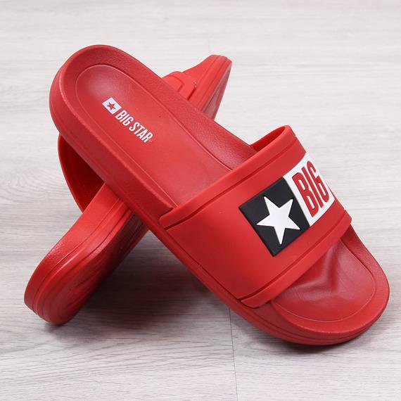 Klapki plażowe gumowe czerwone Big Star DD274A267
