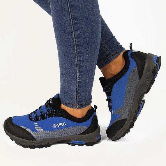 Niebieskie sportowe buty trekkingowe Wishot