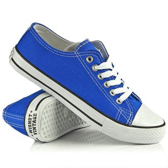 Niebieskie tenisówki półtrampki Wishot