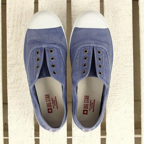 Niebieskie tenisówki slip on zapachowe Big Star (obuwie z błędem)