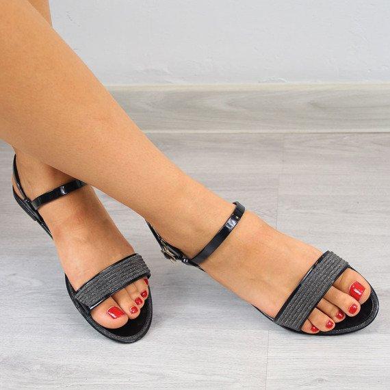 Sandały damskie czarne Lu Boo