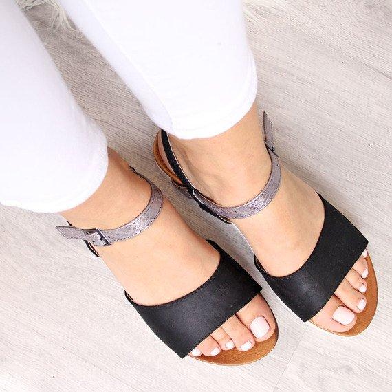 Sandały damskie czarne Vinceza