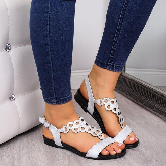 Sandały damskie srebrne Jezzi