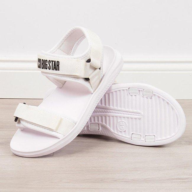 Sandały sportowe na rzepy białe Big Star HH274A026