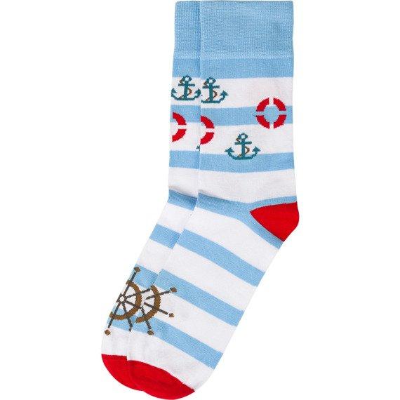 Skarpety błękitno-białe Ahoj Kapitanie Bobby Sox