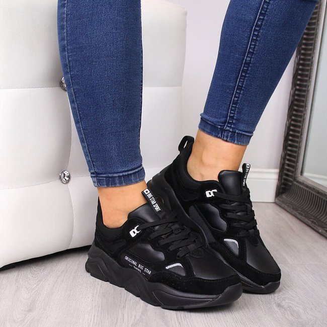 Sneakersy damskie na platformie czarne Big Star GG274654