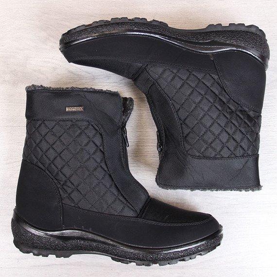 Śniegowce damskie ocieplane wodoodporne czarne