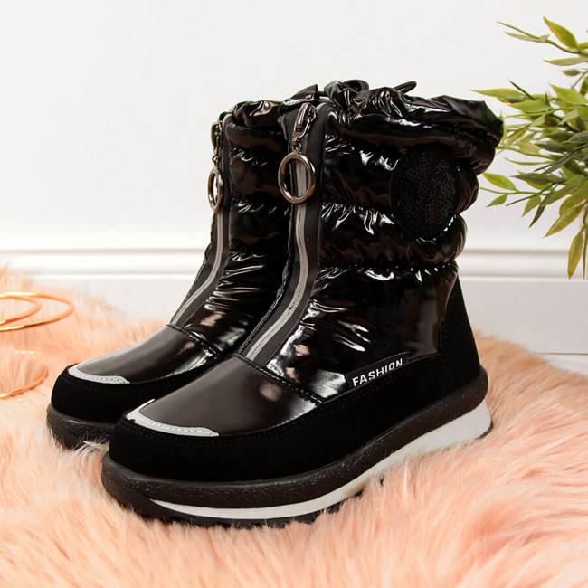 Śniegowce dziewczęce wodoodporne czarne Miss❤E