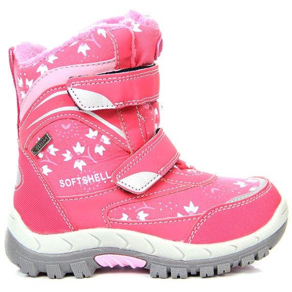 Śniegowce dziewczęce kozaczki wodoodporne różowe American Club